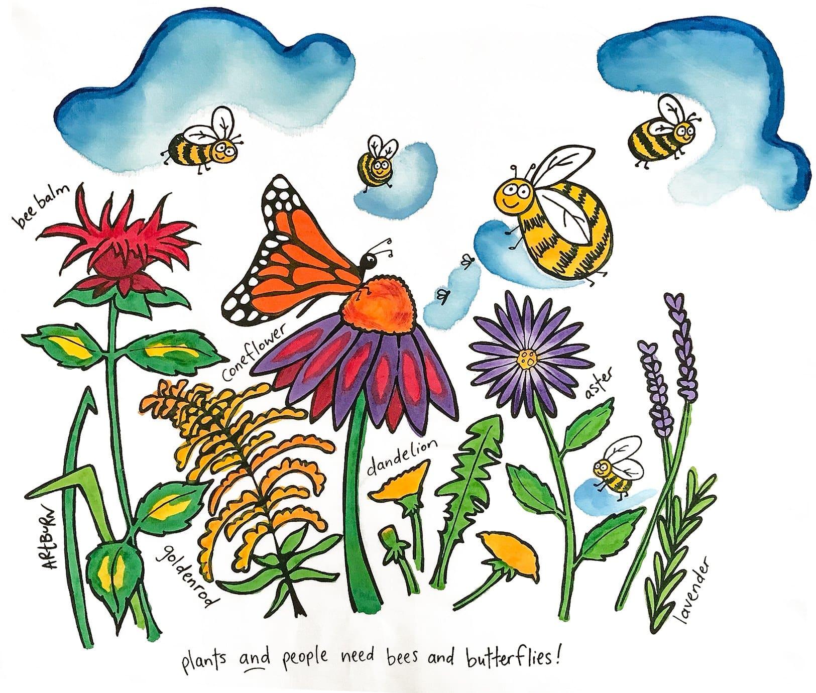 Pillowcase Painting Kits - Pollinator Garden - Basket-Full